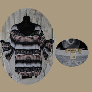 ONE WORLD 3/4 Bell Sleeve Top Size XL